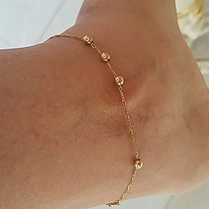 """Jewelry - 14k Yellow Gold ball Chain Ancklet 9"""""""